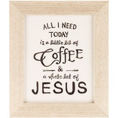 Coffee & Jesus Framed Wall Decor